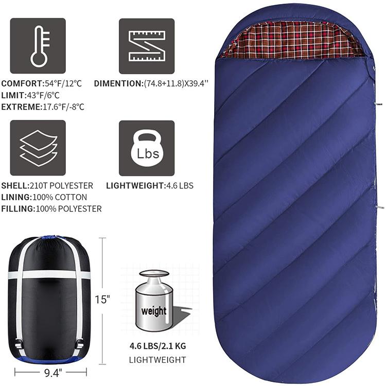 HOMFUL Ultralight Custom Portable 3 Season Outdoor Adults Single Camping Mummy Sleeping Bag