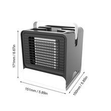 Мини анион кондиционер вентилятор Настольный кулер офисное Охлаждение мини Кондиционер холодный охлаждающий вентилятор для спальни дома(Китай)