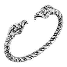 Cxwind ретро браслет с волчьей головой, индийская бижутерия, модные аксессуары, мужской браслет викингов, браслеты-манжеты для женщин, открыты...(Китай)