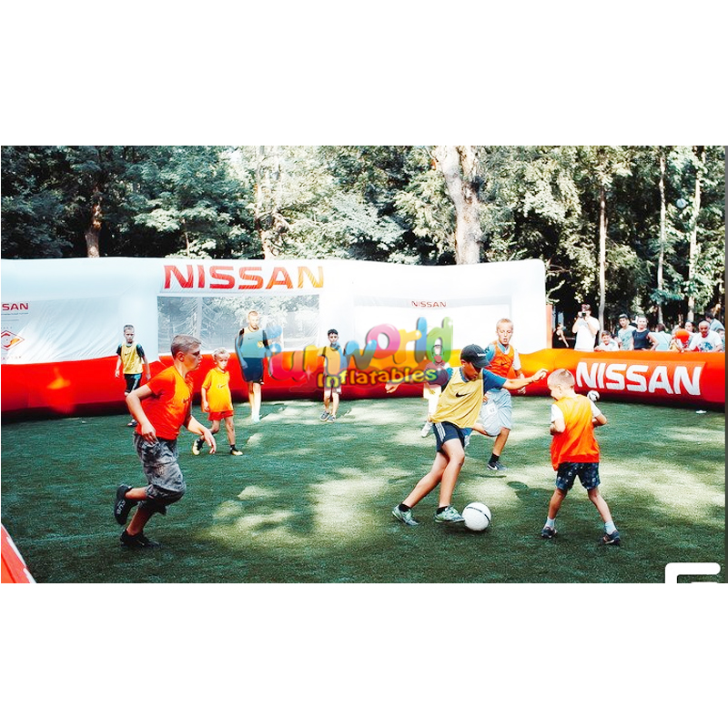 Custom size and color Inflatable soccer arena soap football pitch soccer field