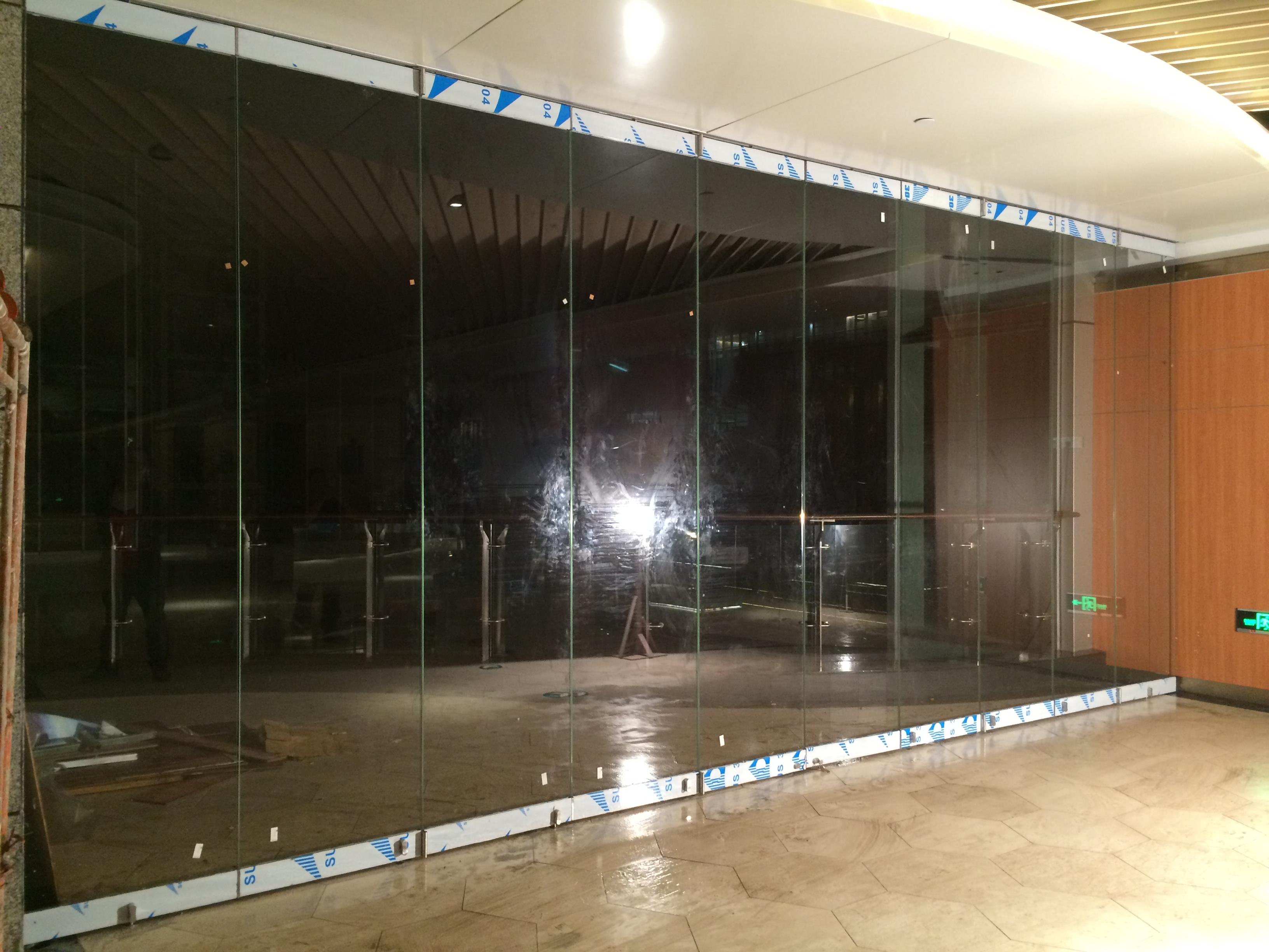 Popular modern design large opening double glazed aluminum insulated folding door