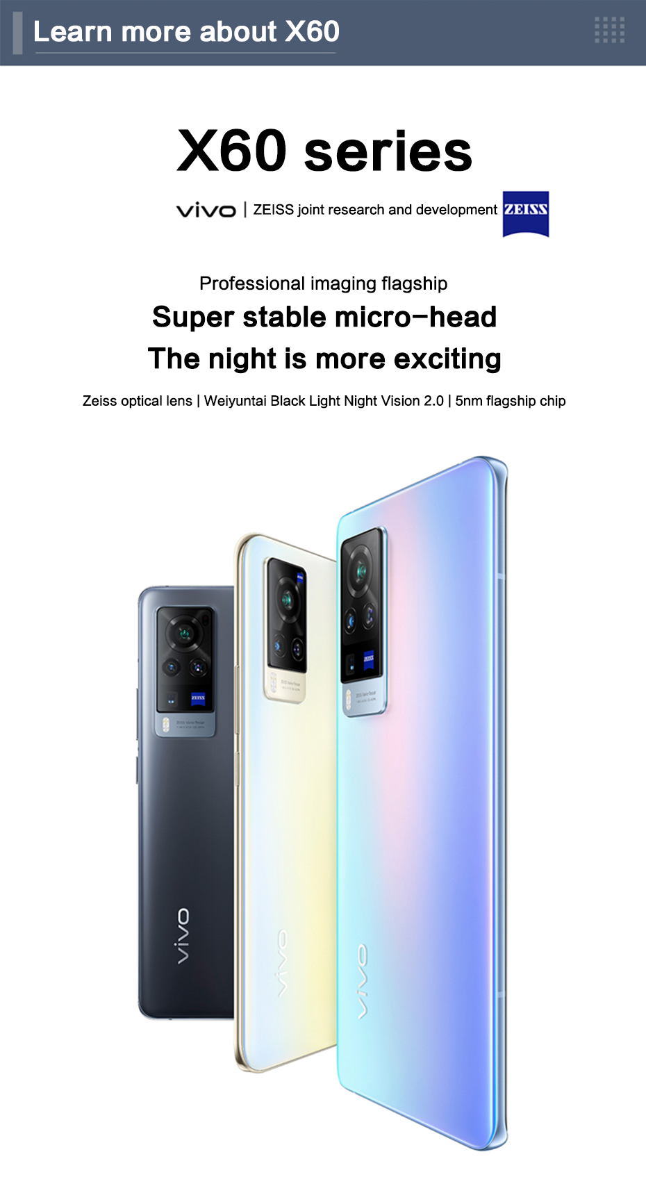 Original New Vivo X60 Pro 5G Cell Phone Exynos 1080 7.36mm Thick Core 6.56inch AMOLED 120Hz Rate Reflash 48.0MP Camera Mobile