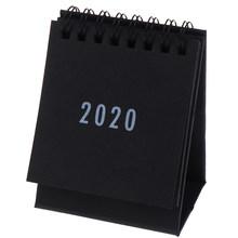 2020 календарь черный белый серый серия Настольный календарь ежедневный график стол школа планирования офисные принадлежности 2020 новый год(Китай)
