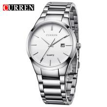 CURREN 8106 Роскошные брендовые аналоговые спортивные наручные часы с дисплеем даты Мужские кварцевые часы бизнес часы мужские часы relogio masculino(Китай)