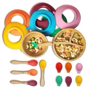 Network sell like hot cakes | 100% bamboo is BPA free | Multicolor baby silicone bowl set