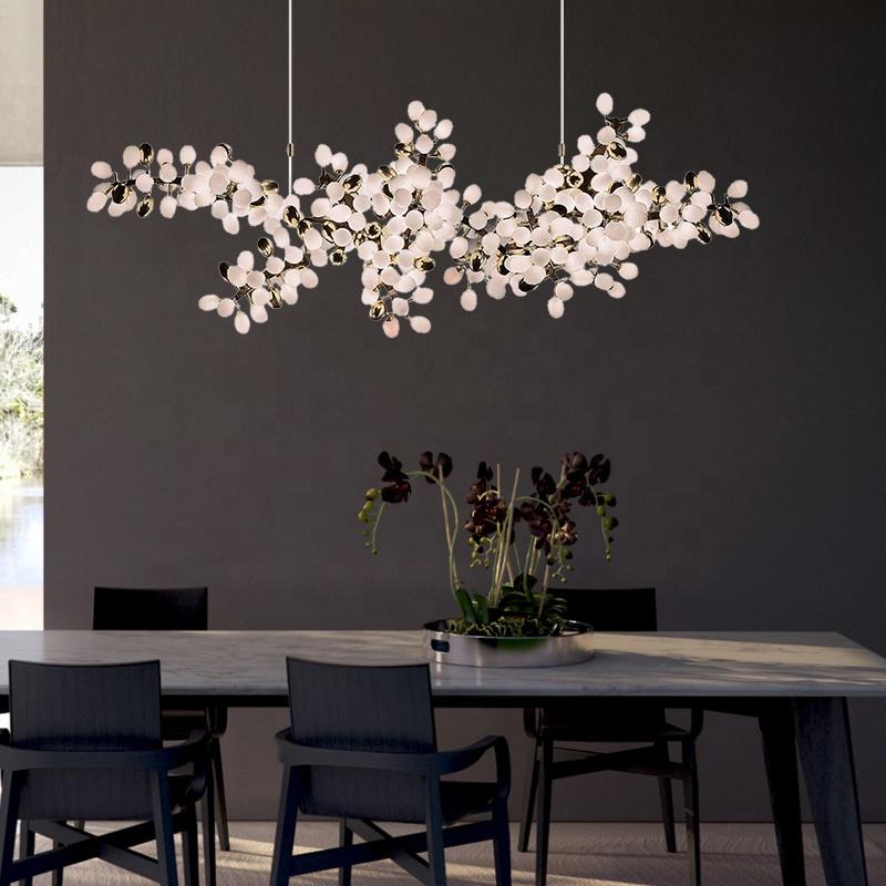 Роскошная люстра в скандинавском стиле, Подвесная лампа со стеклянным шаром, современное освещение, комнатное украшение для отеля