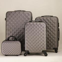 Винтажный чемодан, сумка для багажа, 4 комплекта чемоданов на колесах