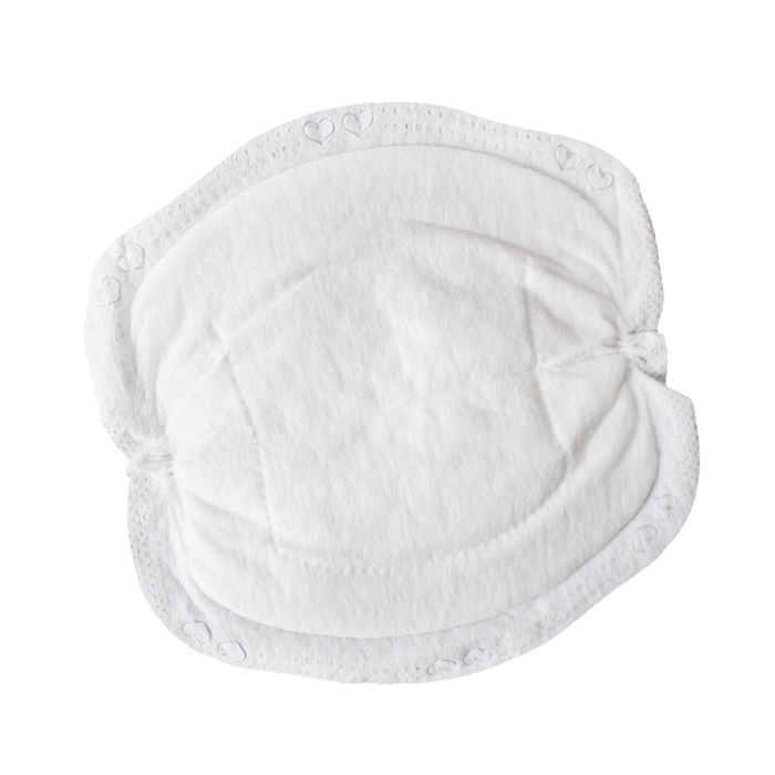 Oem ultra soft bamboo white disposable nursing breast pad <span style=