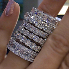 Eternity Rings Ring Rings Hot Sale Wedding Band Women Jewelry Shiny Eternity Cubic Zirconia Rings Fashion Bling Bling Baguette Diamond Ring For Women
