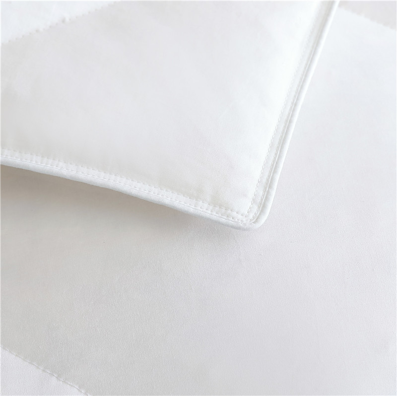 GAGA White Polyester Fibre Quilt King Size Nature Bedding Duvet Plain Comforter Set 100% cotton duvet in comforter