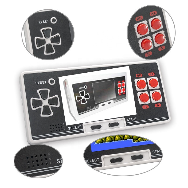 2.8 Inch Classical Mini Pocket Handheld Game Console TV Video Game Player Built in 200 Retro Games Wireless Dual Joystick 2.8 Inch Classical Mini Pocket Handheld Game Console TV Video Game Player Built in 200 Retro Games Wireless Dual Joystick