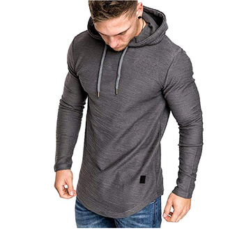 AGRADECIDO Mens Fashion Sport Sweatshirt Fleece Pullovers For Men Solid Color Athletic Hoodie