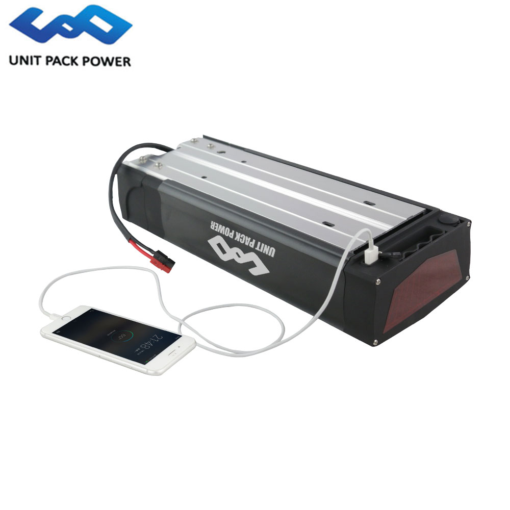 UPP Customized Lithium Ion Rear Rack Type Ebike Battery 36V 48V 52V 13ah 20ah 31.5ah Electric Bicycle Bike Recharge Battery Pack