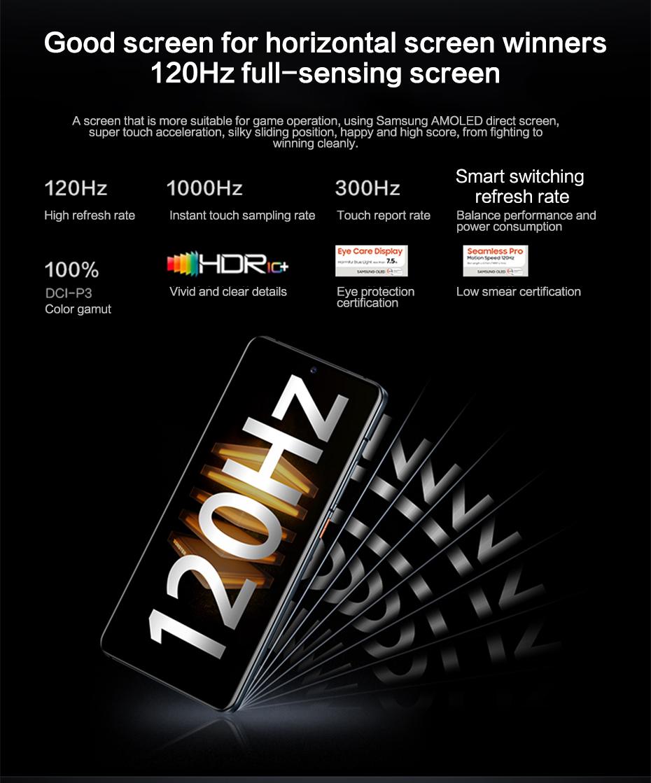 Vivo Original iQOO 7 5G Smartphone Snapdragon 888 120W Dash Charging 120Hz Refresh Rate Android 11 OriginOS Celular Telephone