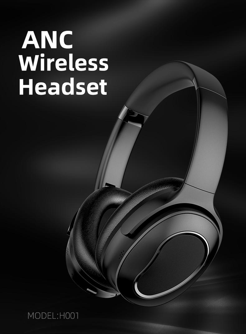 2020 New Wireless Headset Headphones Foldable BT 5.0 Beats Headphones with ANC Active Noise Cancelling Headphones
