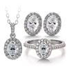 oval moissanite jewelry set