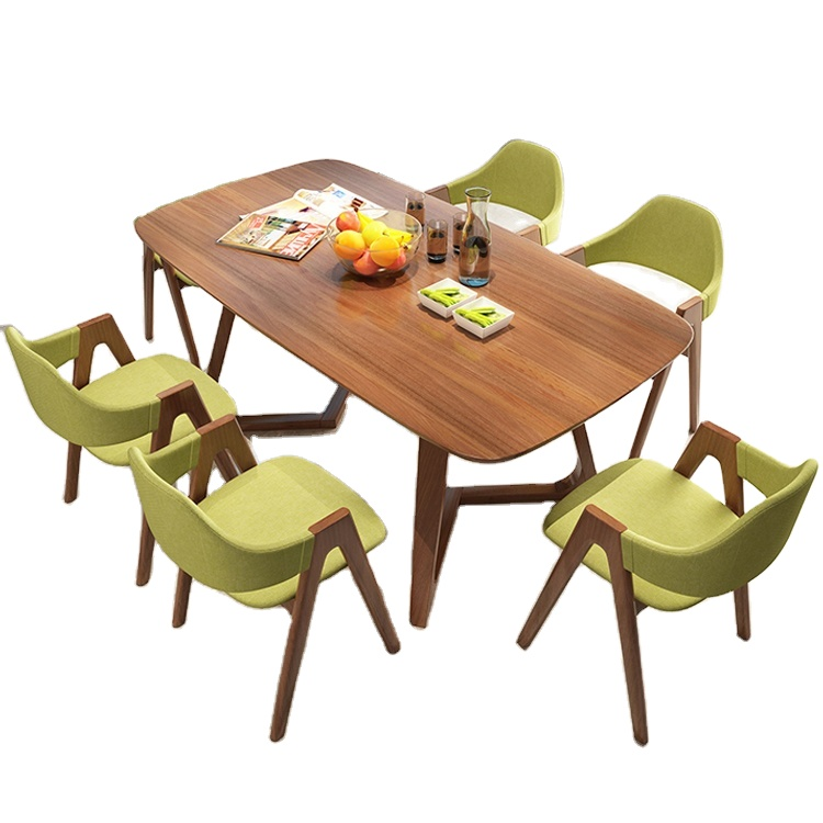 Modern Wood Dining Table Dining Room Furniture 1 Table 6 Chairs Combination Buy High Quality Design Modern Dining Table Set Dining Room Furniture Table And Chairs For Dining Room High Quality Solid
