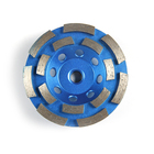 cold press 105mm double row Abrasive Stone Diamond Turbo Cup grinding wheels for Granite /Marble /Concrete