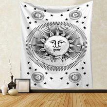 Волшебный Звездный гобелен с изображением неба, настенный подвесной ковер с мандалой, черепом, песочным пляжем, одеяло, палатка для кемпинг...(Китай)