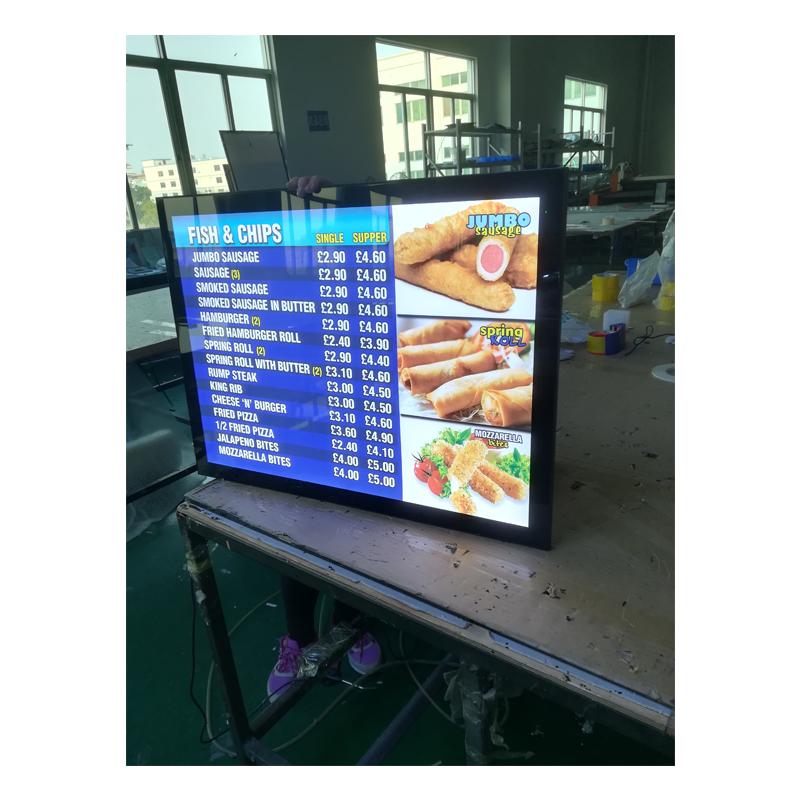Лидер продаж, панель для отображения меню ресторана, настенное крепление, ультратонкая панель для меню