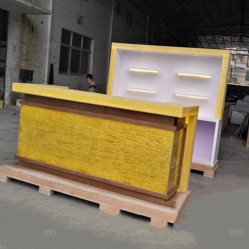 Небольшая U-образная светодиодная полупрозрачная каменная мраморная Современная барная стойка под заказ  Небольшая u-образная светодиодная полупрозрачная каменная мраморная Современная стойка для дома