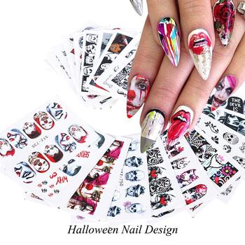 Halloween Nail Stickers Day of the Dead Nail Art Accessories Decals