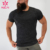 wholesale new design your own Spandex  Cotton solid sports mens workout fitness dry fit gym t shirt