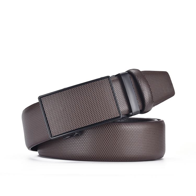 Belt genuine leather men automatic buckle factory directly automatic buckle leather belt