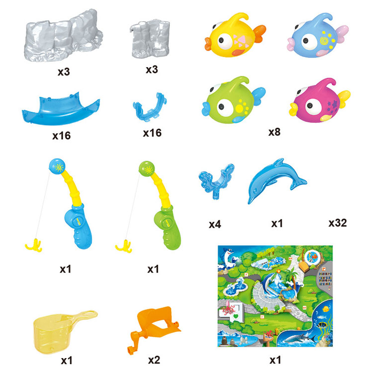 Популярный Интернет-магазин, Пластиковая Магнитная рыболовная игрушка, детские забавные игрушки для воды