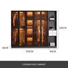 5 door + side cabinet