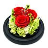 Три розы на черном фоне