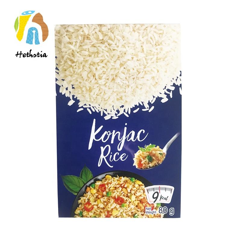 Кето диета название бренда низкокалорийный Конняку ширатаки сушеный коньяк рис сухой с высоким диетическим волокном