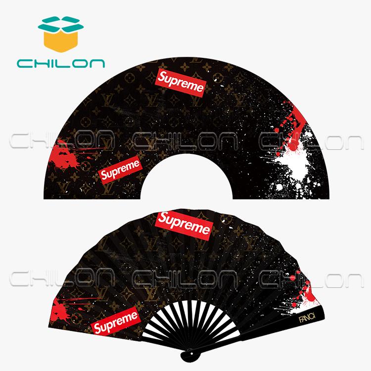 Индивидуальные Рекламные двухсторонние печатные ручные складные вентиляторы