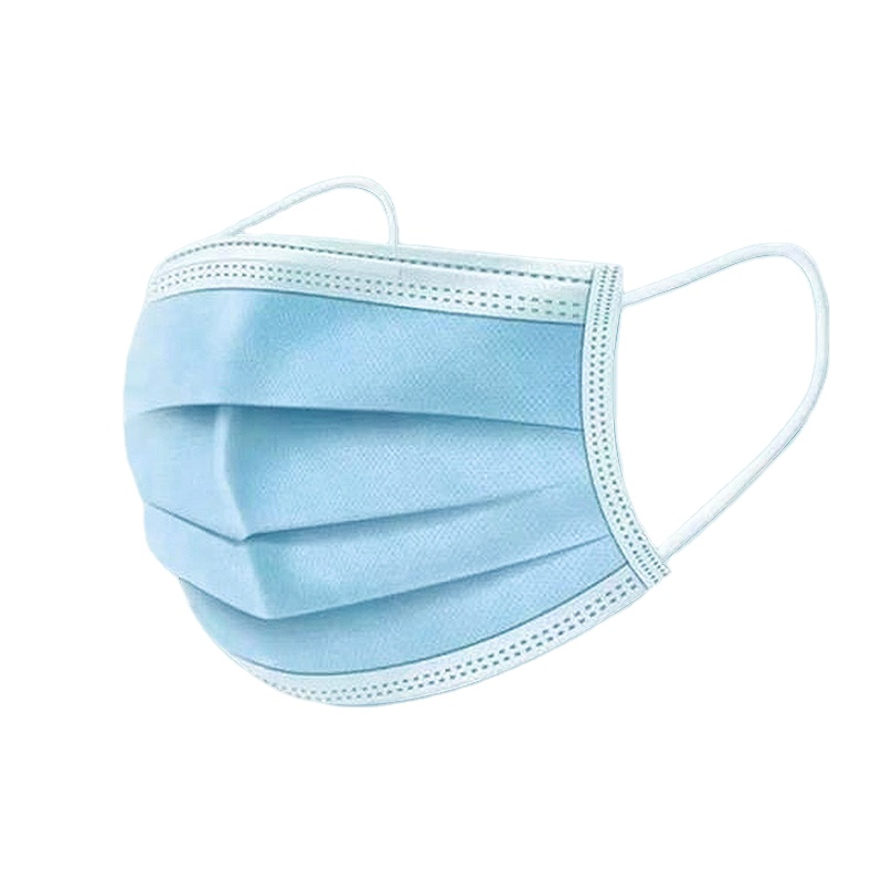 Disposable 3 Ply Anti-Bacterial Mouth Cover Ear-loop Face Mask - KingCare | KingCare.net
