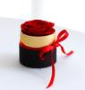 Черный с каймой золотистого цвета коробка с №1 rose
