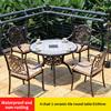 6-4 стула 1 керамическая плитка круглого стола D100cm