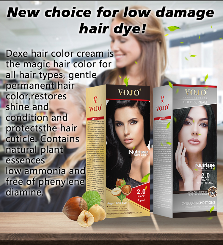 Salon Professional Permanent Non Allergic Hair Dye gel new package Coverage Color Form Website Origin Type Cream GUA Days Low