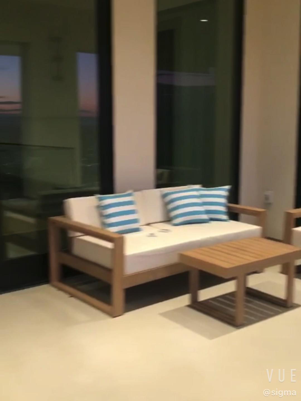 Living room outdoor garden sets patio teak counter table furniture