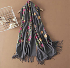 New Scarf Scarf 2021 New Style Embroidery Soft Multicolor Scarves Shawls Scarf Cashmere Ladies Womens