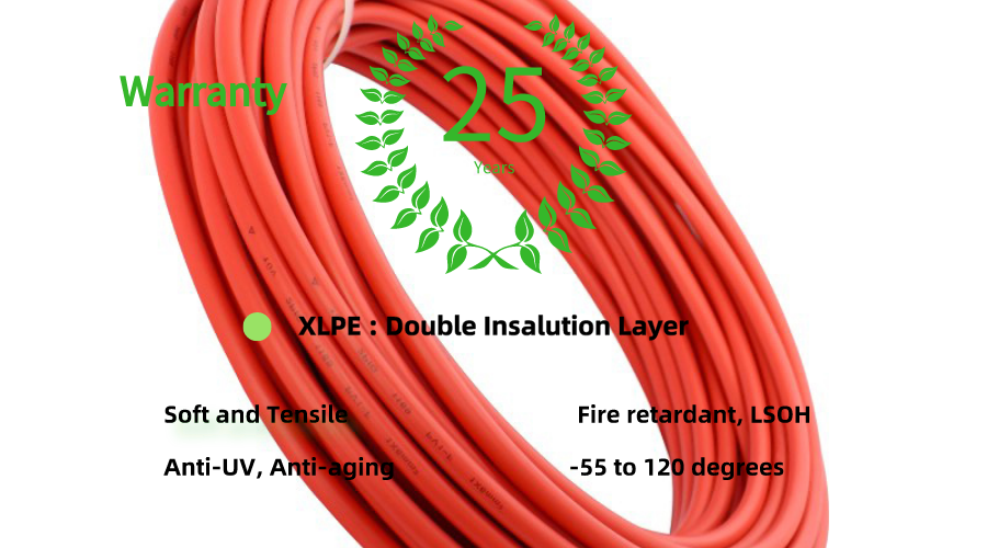 High quality Tinned Copper Wire Single Core 4mm2 Solar PV Cable