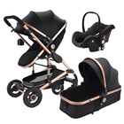 Cheap price baby car seat carriage 3 in 1 multi-functional baby stroller with Baby carry basket