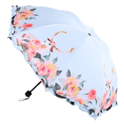 Umbrella Umbrella Embroidered Umbrella New Fashion Flower And Deer Lace Vinyl Umbrella Windproof Sunshade 3 Folding Umbrella