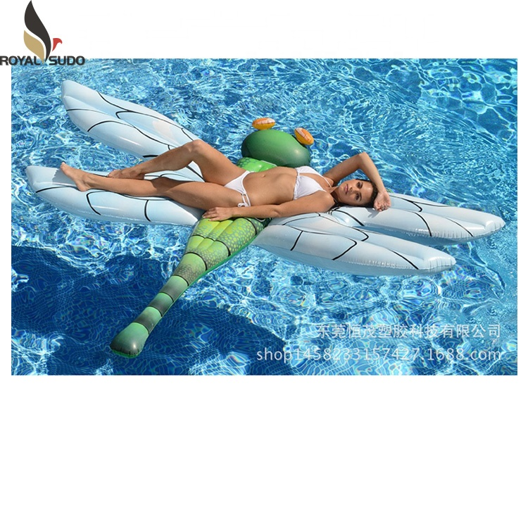 240X200cm pvc custom made dragonfly mat water inflatable raft float mattress