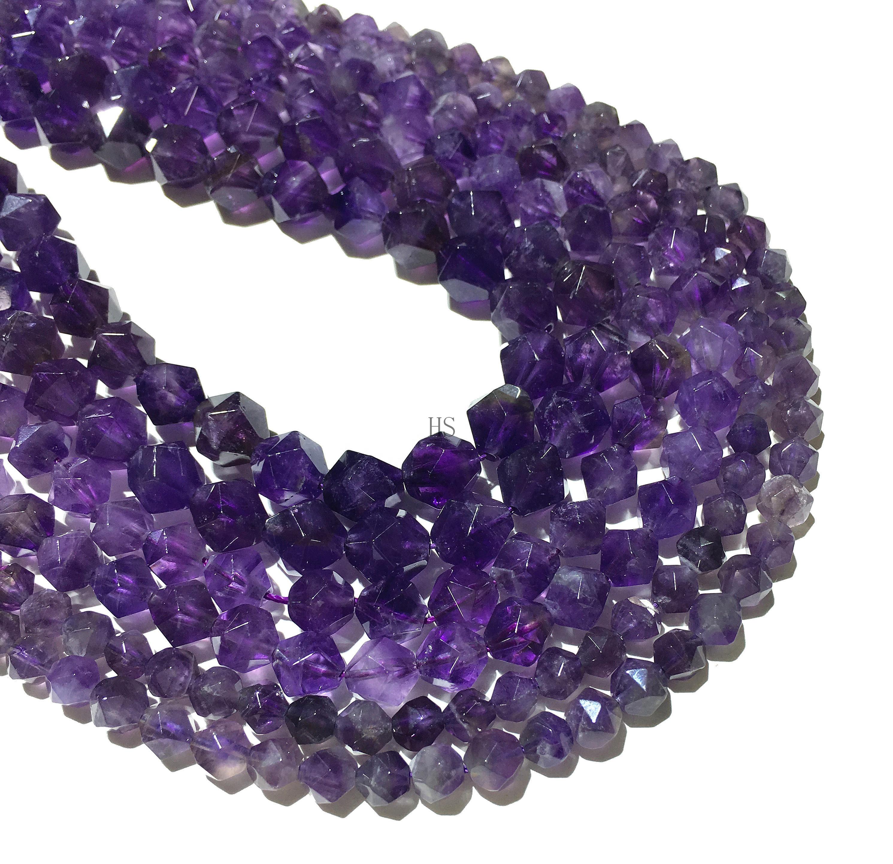 Purple Amethyst Flat Oval Beads 6*8mm for DIY Jewelry Making
