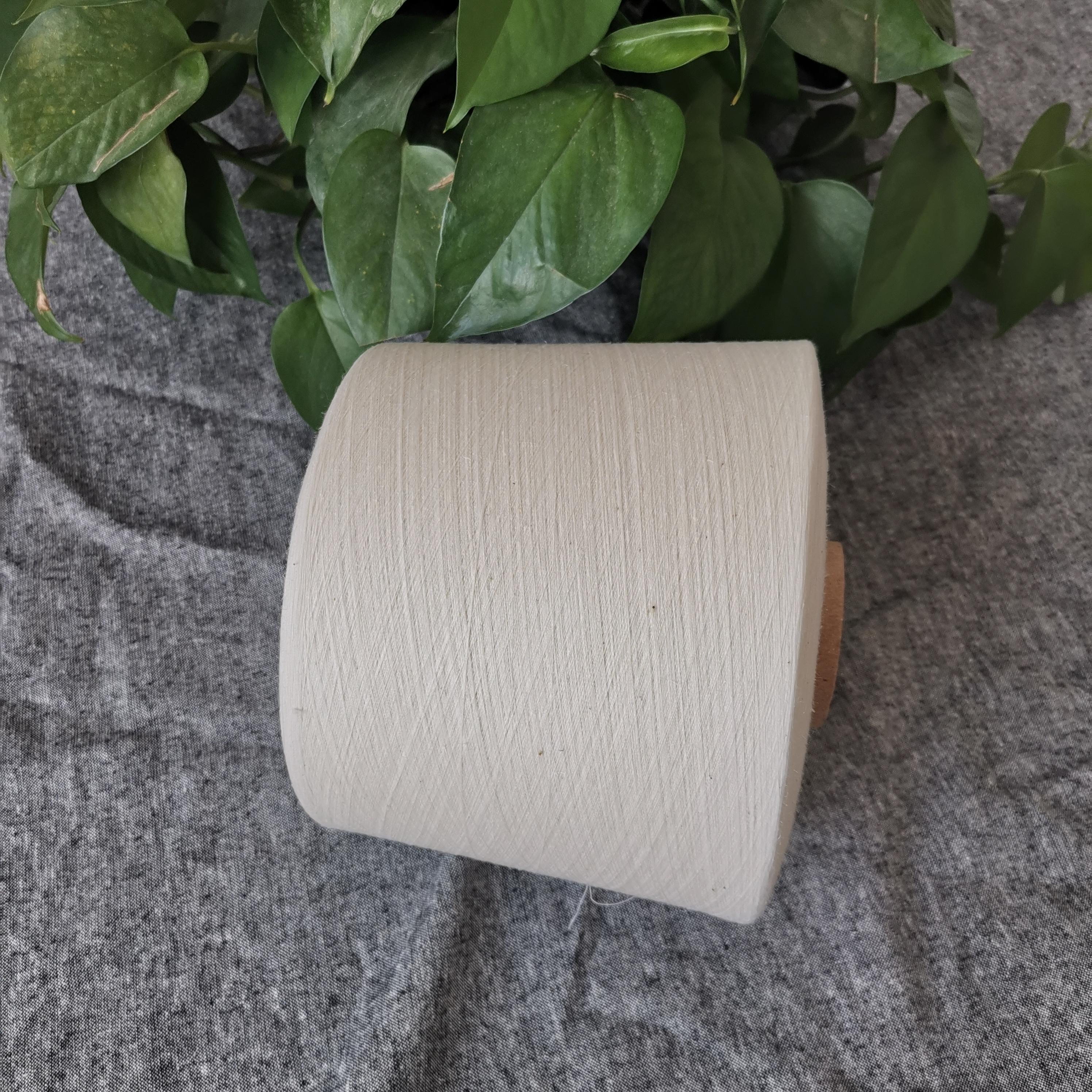30% конопляная 70% Органическая хлопчатобумажная пряжа 40S Компактная и siro Спиннинг для плетения и вязания