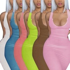 Summer Summer Maxi Casual Dresses 2021 Round Neck Sleeveless Bodycon Maxi Elegant Women Summer Party Long Casual Dress