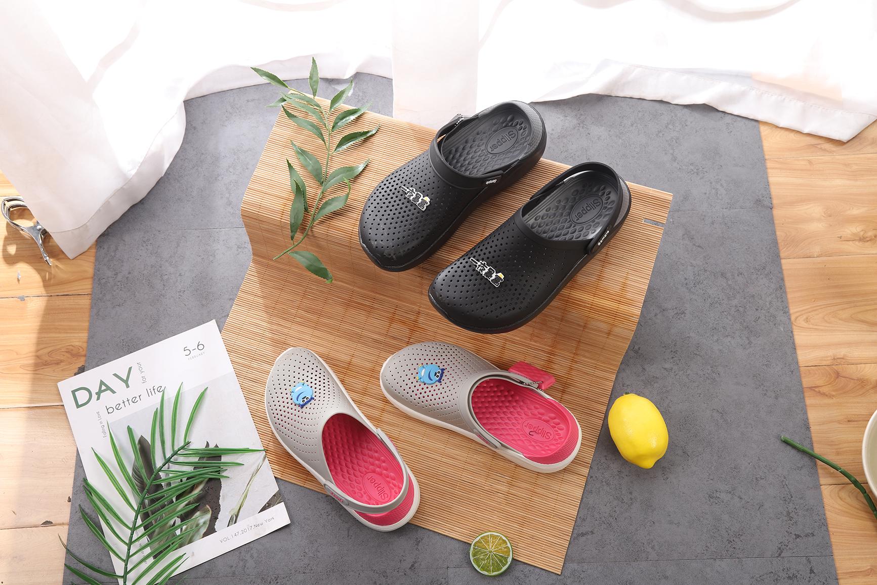 Мужские цветные пляжные сандалии, повседневные шлепанцы, Эва, натуральные, водонепроницаемые, летние тапки