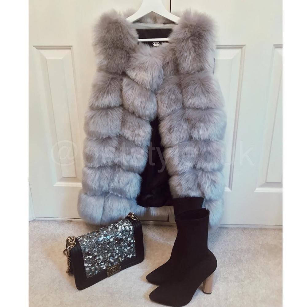 2021 Wholesale winter faux fox Gilet factory price overlap gilet winter faux fur vest
