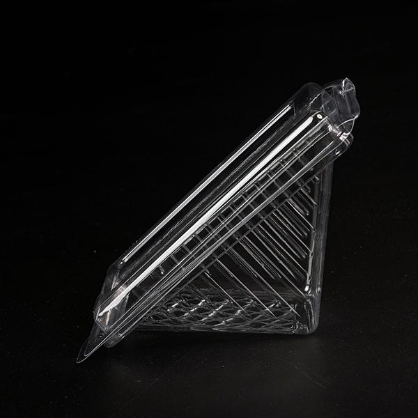 Pet/pp tek kullanımlık üçgen şeffaf sandviç/kek plastik gıda kabı/kutu/ambalaj