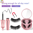 Wholesale Eyelashes Korea Wholesale 5 Pairs Cilios Magnetic Human Hair Eyelashes And Eyeliner Set With Luxury Packaging